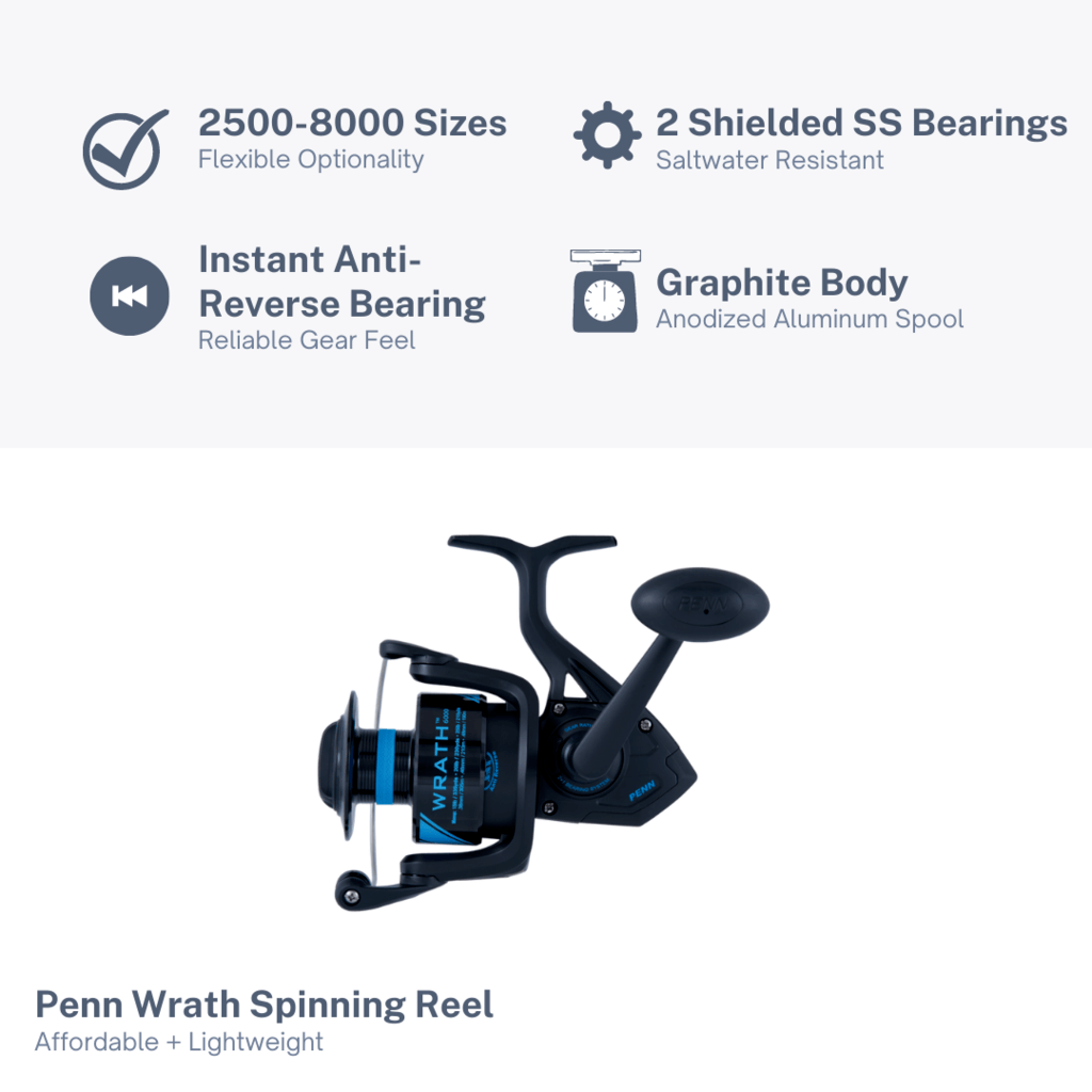 Penn Wrath Spinning Reel Features