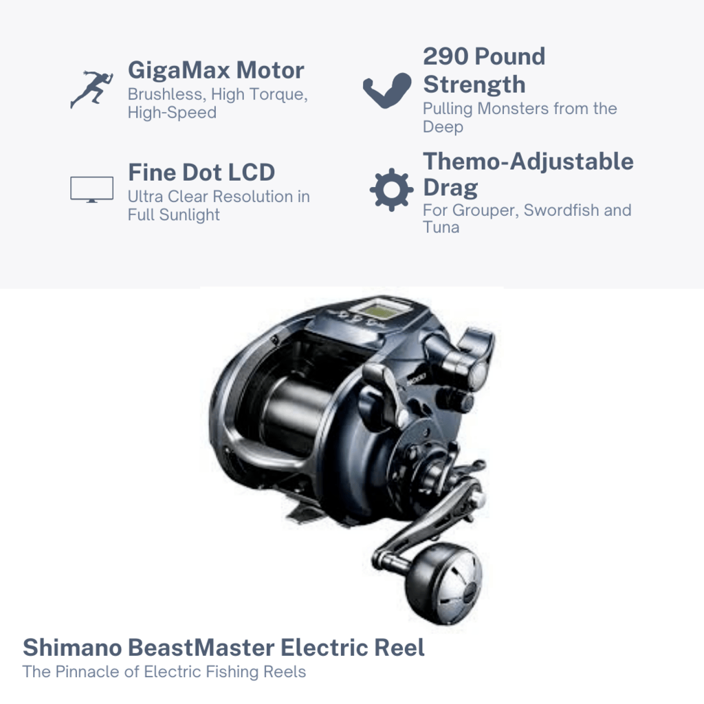 Shimano Beastmaster Electric Reel Features