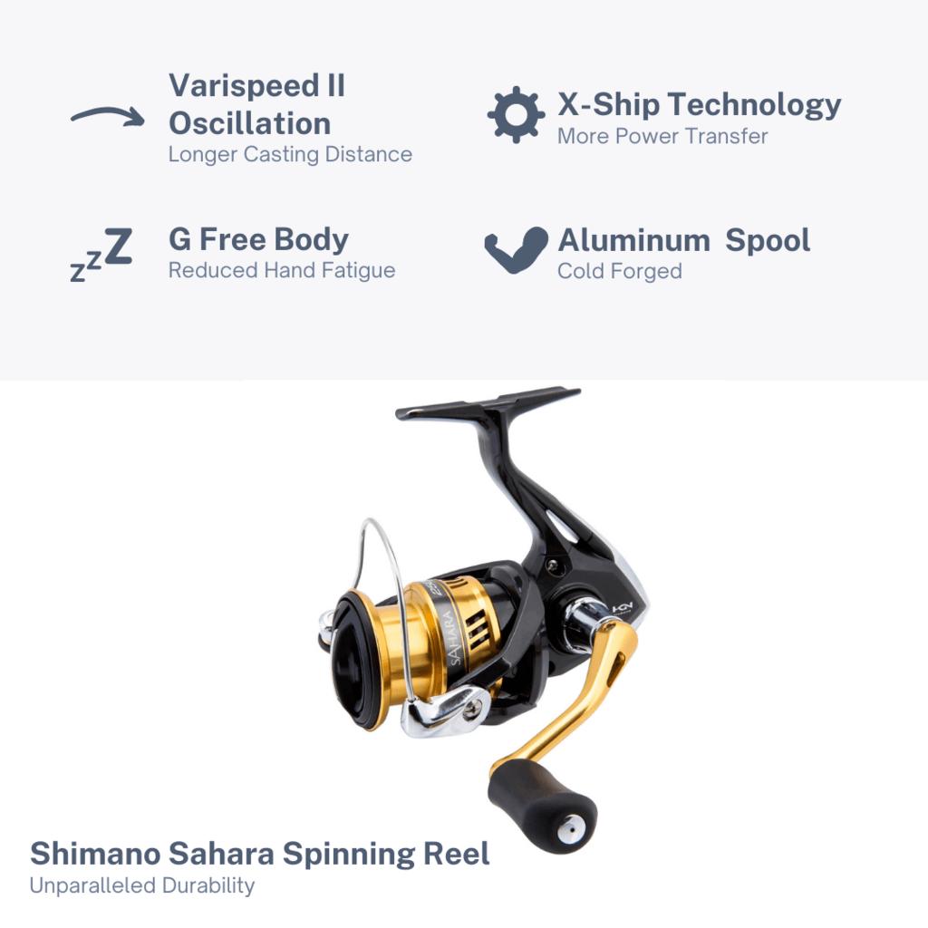 Shimano Sahara Spinning Reel Features