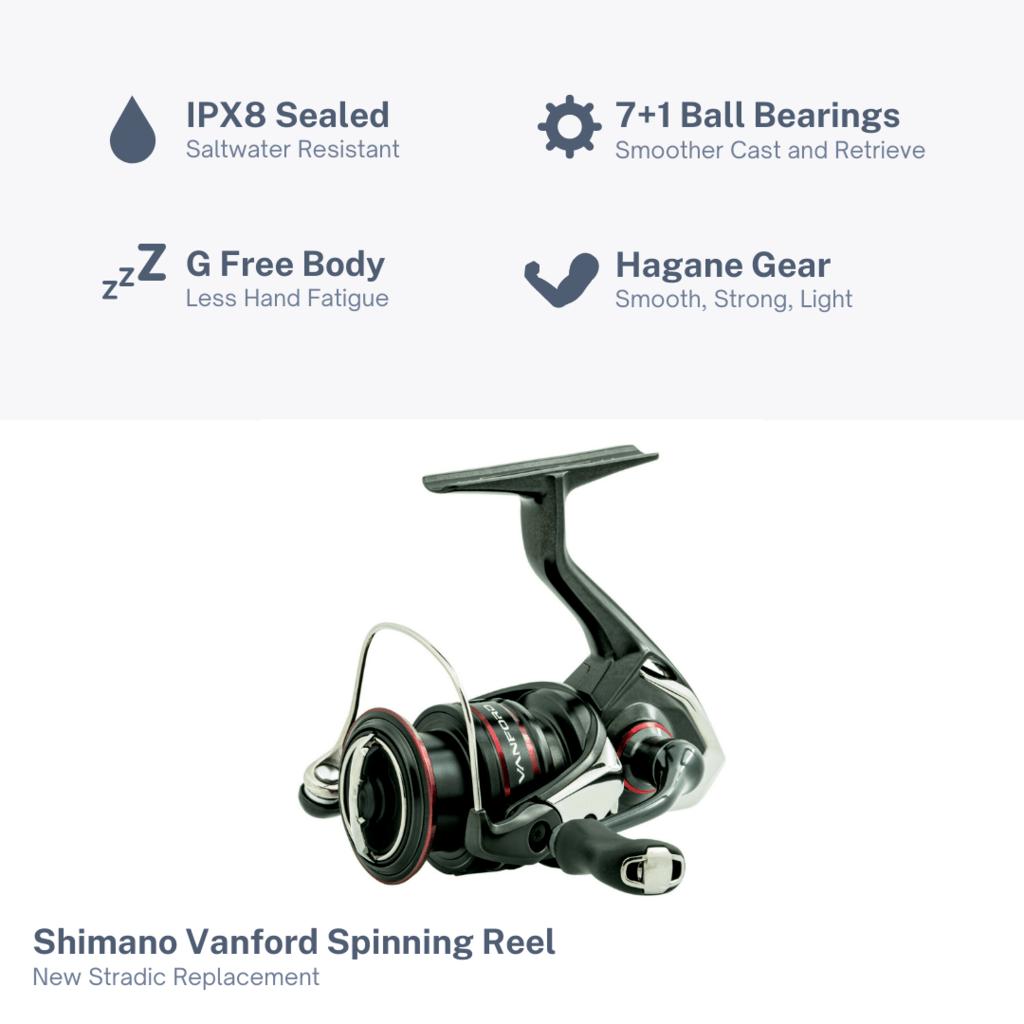 Shimano Vanford Reel Features