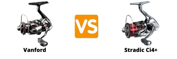 Shimano Vanford vs Stradic Ci4+ Comparison
