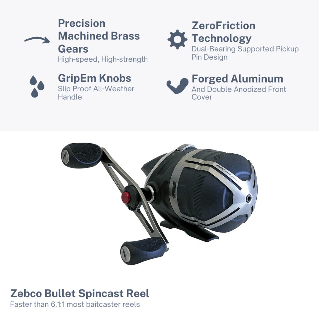 Zebco Bullet Spincast Features
