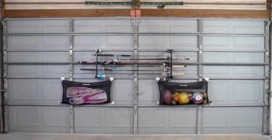 Garage Door Fishing Rod Storage