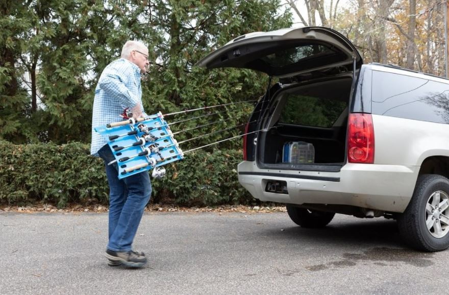 Portable Fishing Rod Storage